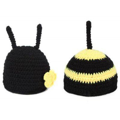 Baby Yarn Knitted Bee Photography Prop Costume Set