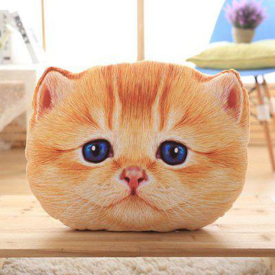 Removable 3D Cartoon Big Eyes Cat Shape Plush Pillow