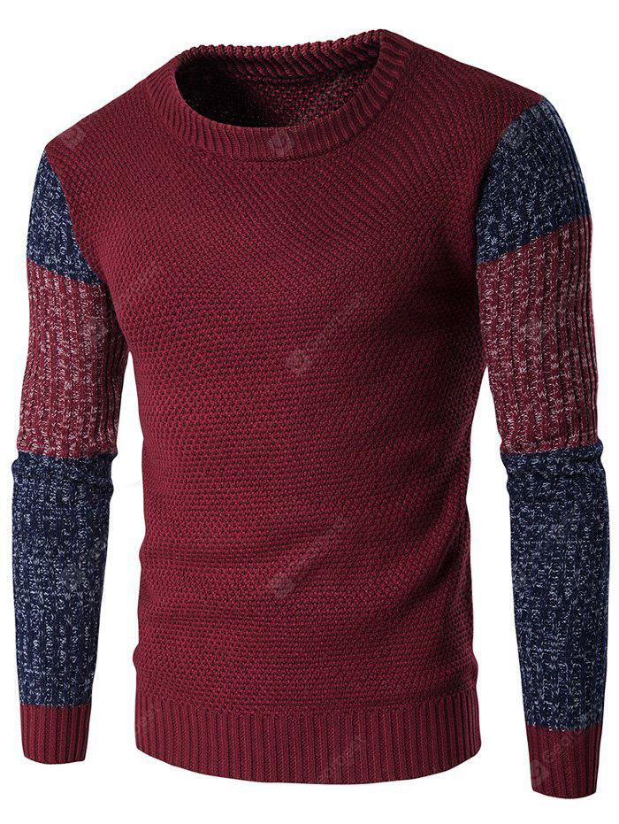 Crew Neck Color Block Espace Dyed Sweater