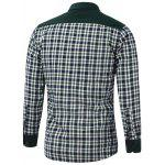 cheap Color Block Plaid Pocket Design Turn-Down Collar Fleece Shirt