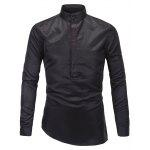 Pied de col Half Button Up Shirt - NOIR