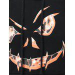 3D Print Drawstring Hallowmas Black Hoodie Men - NOIR