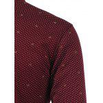 Polka Dot Pattern Pocket Turn-Down Collar Fleece Shirt deal