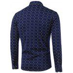cheap Polka Dot and Spiral Print Turn-Down Collar Fleece Shirt
