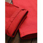 Pocket Rivet Knee Zippers Denim Red Jeans photo
