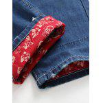Zipper Fly Holes Design Printed Lining Jeans for sale