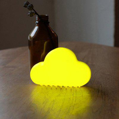Buy YELLOW LED USB Charging Cloud Voice Control Night Light for $13.66 in GearBest store