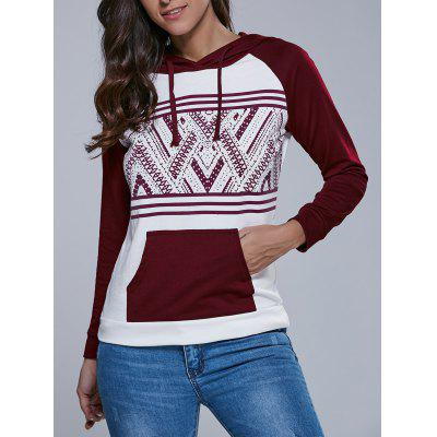 Big Pocket Tribal Pattern Hoodie