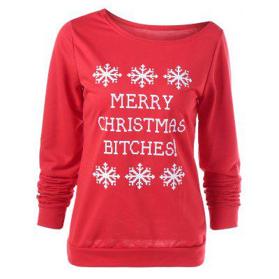 Buy RED Merry Christmas Bitches Graphic Sweatshirt for $5.25 in GearBest store