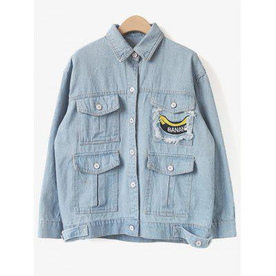 Patched Pockets Denim Jacket