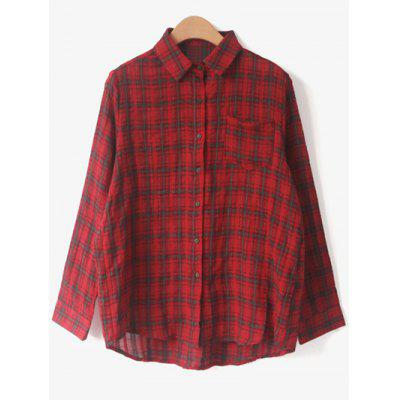 Shirt Neck Tartan ShirtBlouses<br>Shirt Neck Tartan Shirt<br><br>Collar: Shirt Collar<br>Material: Cotton Blends<br>Package Contents: 1 x Shirt<br>Pattern Type: Plaid<br>Season: Fall<br>Shirt Length: Regular<br>Sleeve Length: Full<br>Style: Fashion<br>Weight: 0.320kg