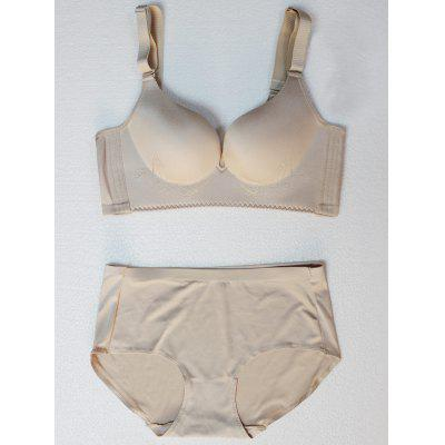 Embroidered Bra Set