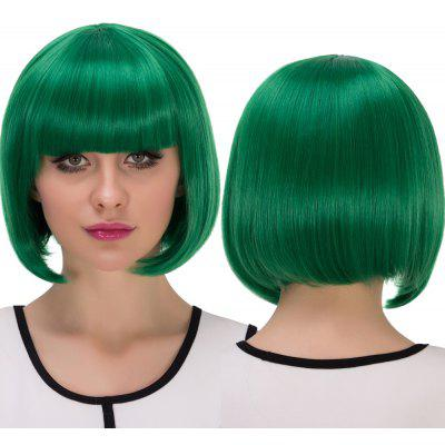 Cosplay court synthétique complet Bang Bob Haircut perruque