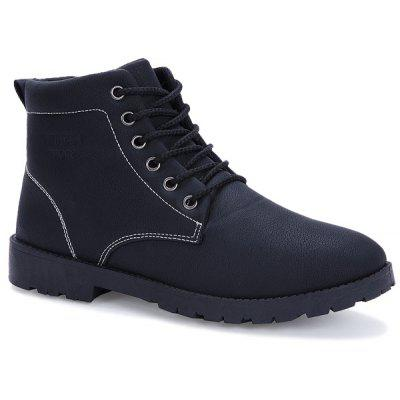 Tie Up PU Leather Vintage Boots
