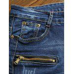 Zippered Scratched Rib Paneled Biker Jeans deal