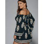 Plus Size Club Printed Halter Flare Sleeve Dress deal