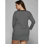 best Long Sleeve Striped Plus Size Dress