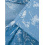 Botton Pocket Tie-Dyed Denim à manches longues - BLEU CLAIR
