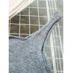 Buy Scoop Neck Side Furcal Knitted Vest DEEP GRAY