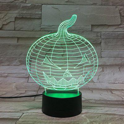 Halloween Pumpkin Color Gradient 3D Visual LED Touch Night Light