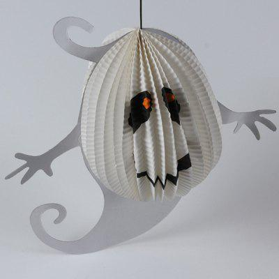 Halloween Supply Ghost Pattern Paper Hanging Lantern Decoration Party