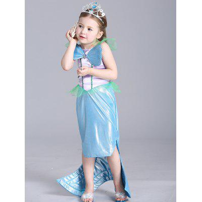 Kids Halloween Christmas Maxi Mermaid Cosplay Dress