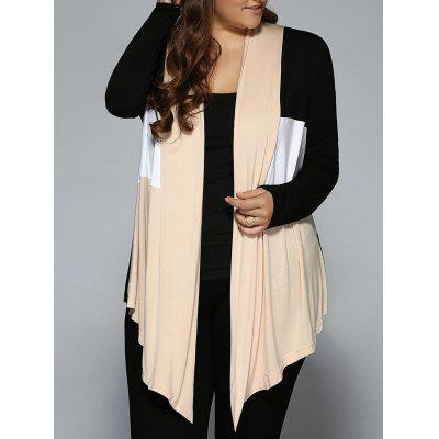 Plus Size Open Front Asymmetrical Cardigan