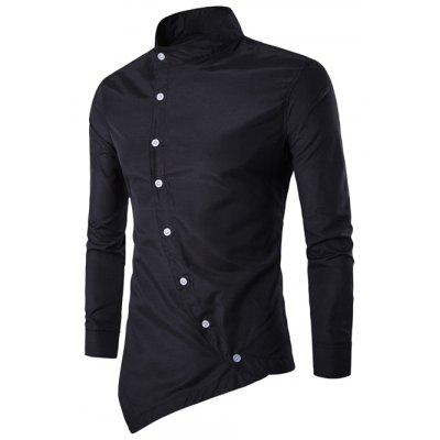 Asymmetric Navy Shirt for Men