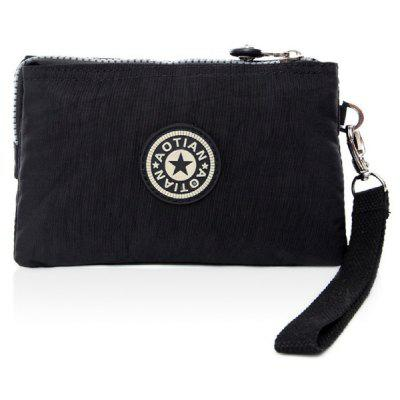 Zip Cotton Fabric Metal Coin Purse