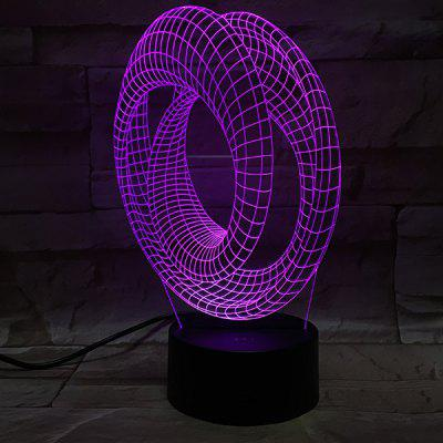 3D Visual Acrylic LED Colorful Decorative Night Light