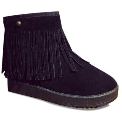 Buy BLACK Slip On Suede Ankle Boots for $25.45 in GearBest store