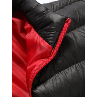 Stand Collar Contrast Zipper Quilted JacketMens Jackets &amp; Coats<br>Stand Collar Contrast Zipper Quilted Jacket<br><br>Clothes Type: Padded<br>Collar: Stand Collar<br>Material: Polyester<br>Package Contents: 1 x Jacket<br>Season: Winter<br>Shirt Length: Regular<br>Sleeve Length: Long Sleeves<br>Style: Casual<br>Weight: 0.6120kg