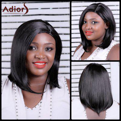 Buy BLACK BROWN Adiors Long Straight Side Parting Synthetic Wig for $24.22 in GearBest store