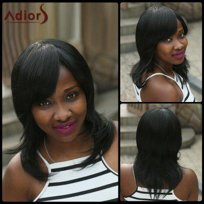 Adiors Medium Side Bang Natural Straight Synthetic Wig