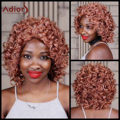 Adiors Medium Curly Colormix Inclined Bang Synthetic Wig