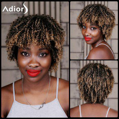 Buy COLORMIX Adiors Short Highlight Full Bang Curly Synthetic Wig for $20.08 in GearBest store