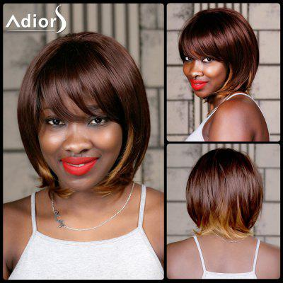 Buy COLORMIX Adiors Medium Straight Oblique Bang Highlight Synthetic Wig for $22.50 in GearBest store