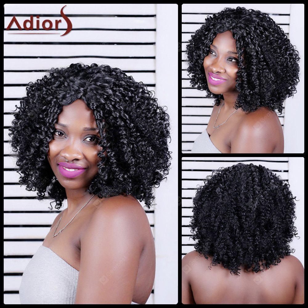 Adiors Long Shaggy Curly Middle Parting Synthetic Wig