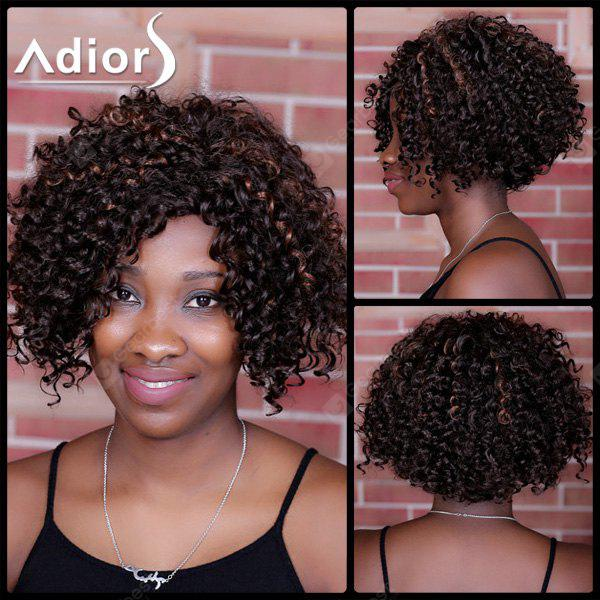 Adiors Short Highlight Curly Side Parting Synthetic Wig