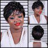 Short Side Bang Curly Mixcolor Synthetic Wig - COLORMIX