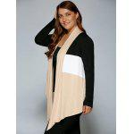 cheap Plus Size Open Front Asymmetrical Cardigan