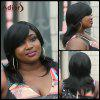 Adiors Medium Side Bang Straight Synthetic Wig - BLACK