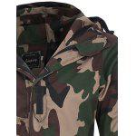 Covered Zip Up Raglan Sleeve Hooded Camo Jacket deal