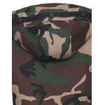 Covered Zip Up Raglan Sleeve Hooded Camo Jacket for sale