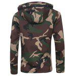 cheap Covered Zip Up Raglan Sleeve Hooded Camo Jacket