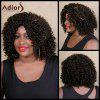 Adiors Medium Curly Side Parting Colormix Synthetic Wig - COLORMIX