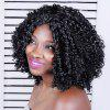 Adiors Long Shaggy Curly Middle Parting Synthetic Wig - BLACK