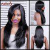 Adiors Long Straight Side Bang Synthetic Wig - BLACK