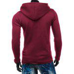 Side Zipper Up Asymmetric Hoodie deal