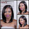 Adiors Long Straight Inclined Parting Synthetic Wig - BLACK BROWN